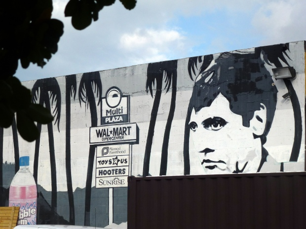 Graffiti art of Tony Montana. (Credit: redleaf / Wikimedia Commons)